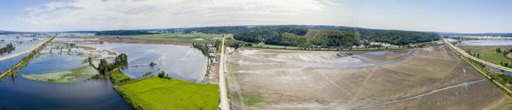 flooded field in iowa