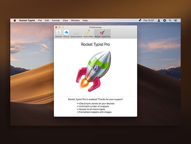 Rocket Typist for Mac