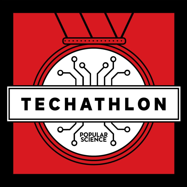 Techathlon podcast logo.