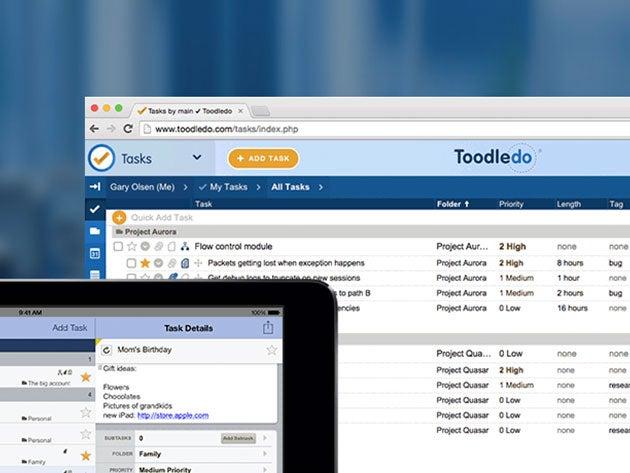 Toodledo Plus Online Task Manager: 1-Yr Subscription