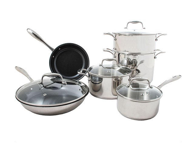 Concentrix 10-Piece Stainless Steel Cookware Set