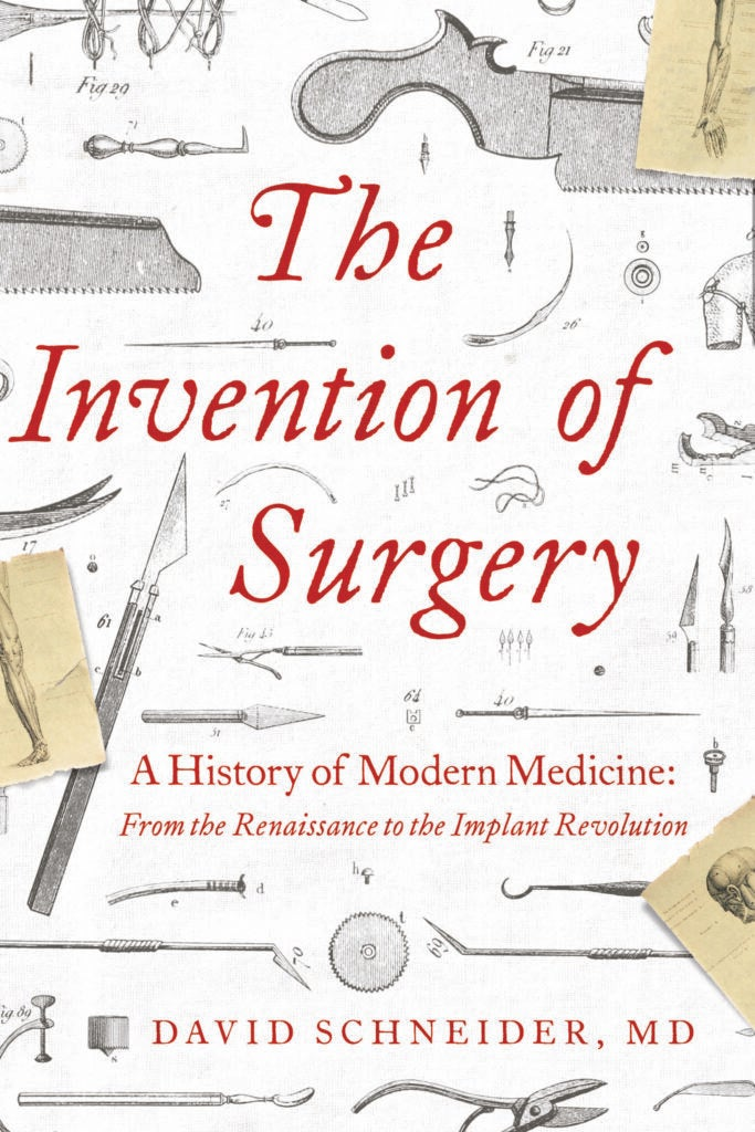 cover of the invention of surgery book