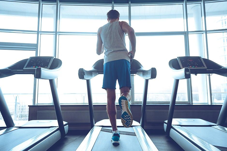 guy on a treadmill