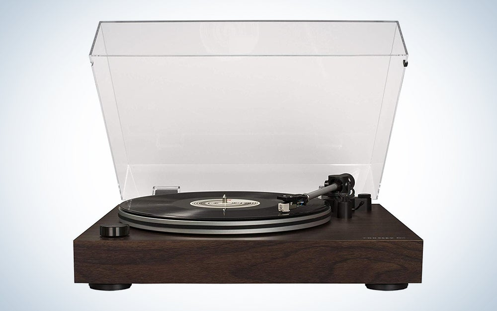 Crosley C8 2-Speed Belt-Driven Turntable with Built-in Switchable Pre-Amp