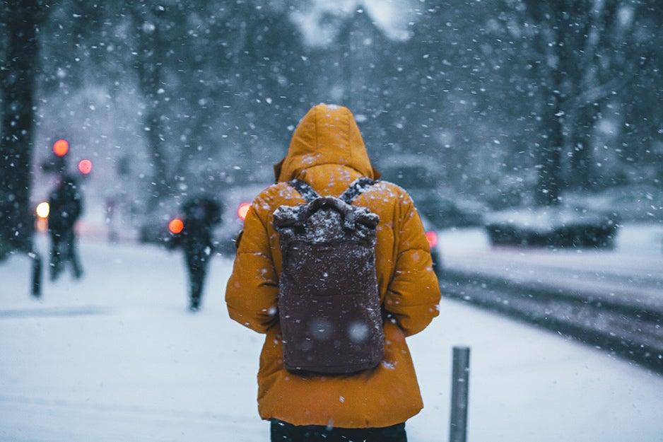 person in a winter coat