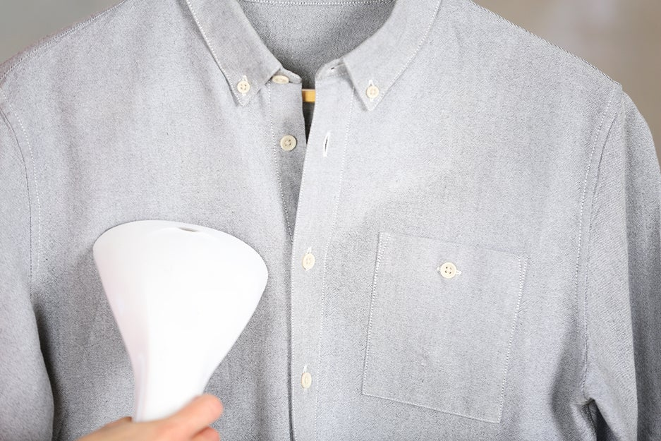 clothing steamer and shirt