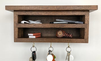 Build a floating key organizer cabinet you'll love coming home to