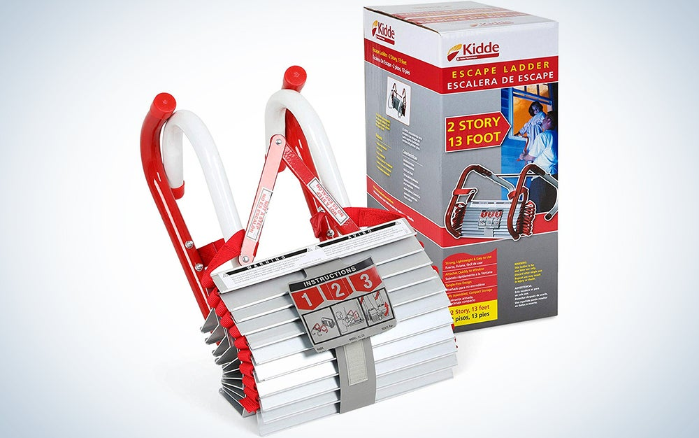 Kidde KL-2S Two-Story Fire Escape Ladder with Anti-Slip Rungs
