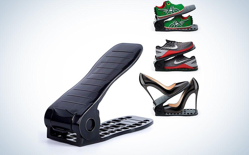 AQUAPRO Shoe Slots Organizer, Adjustable Shoe Stacker Space Saver, Double Deck Shoe Rack Holder for Closet Organization