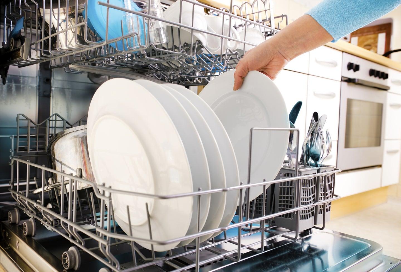 Hand loading dishwasher