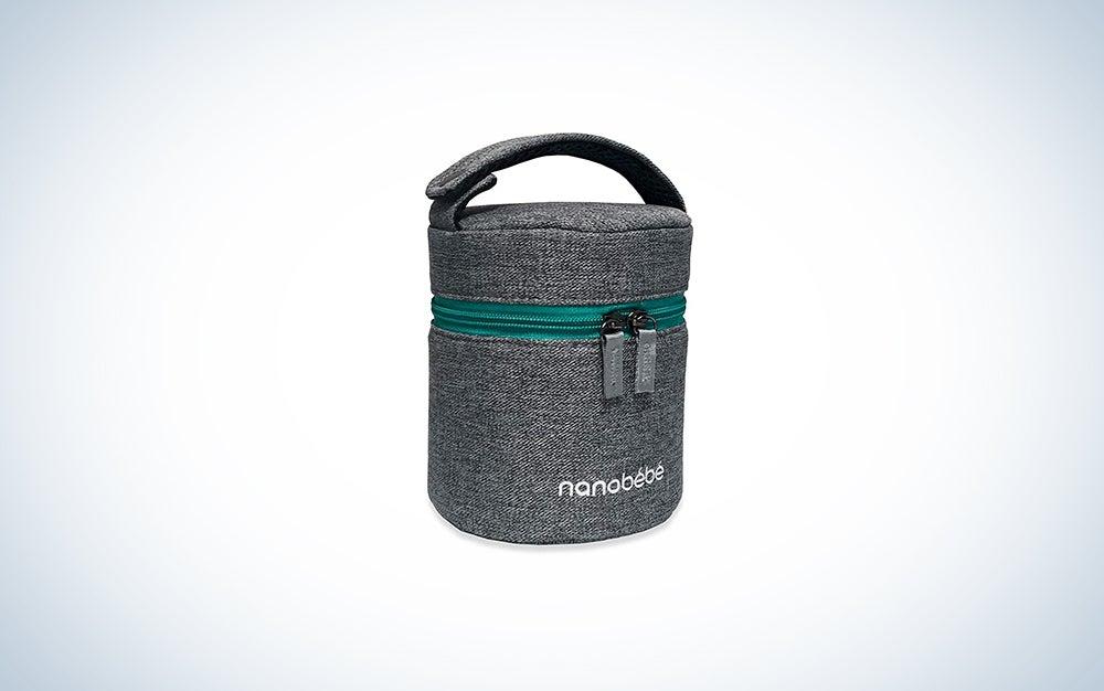 nanobebe Breastmilk Baby Bottle Cooler & Travel Bag with Ice Pack Included
