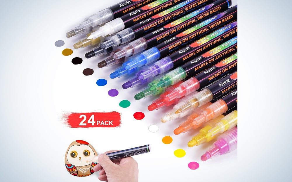 Acrylic Paint Pens - 24 Acrylic Paint Markers