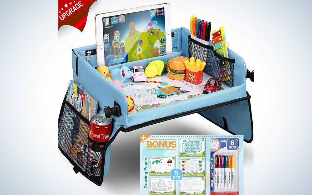 Kids Travel Tray with Dry Erase Top Car Seat