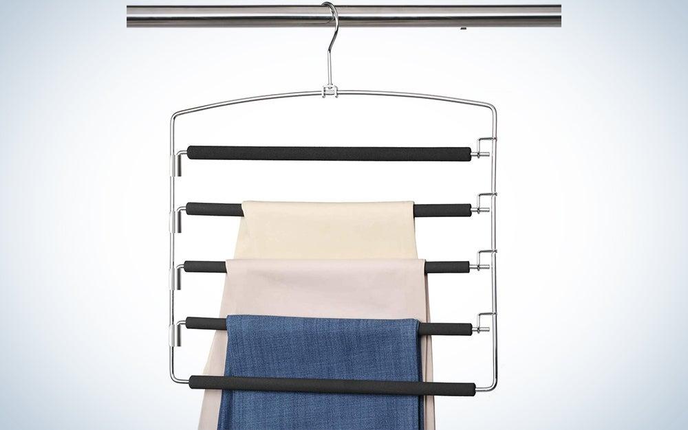 Meetu Pants Hangers 5 Layers Stainless Steel
