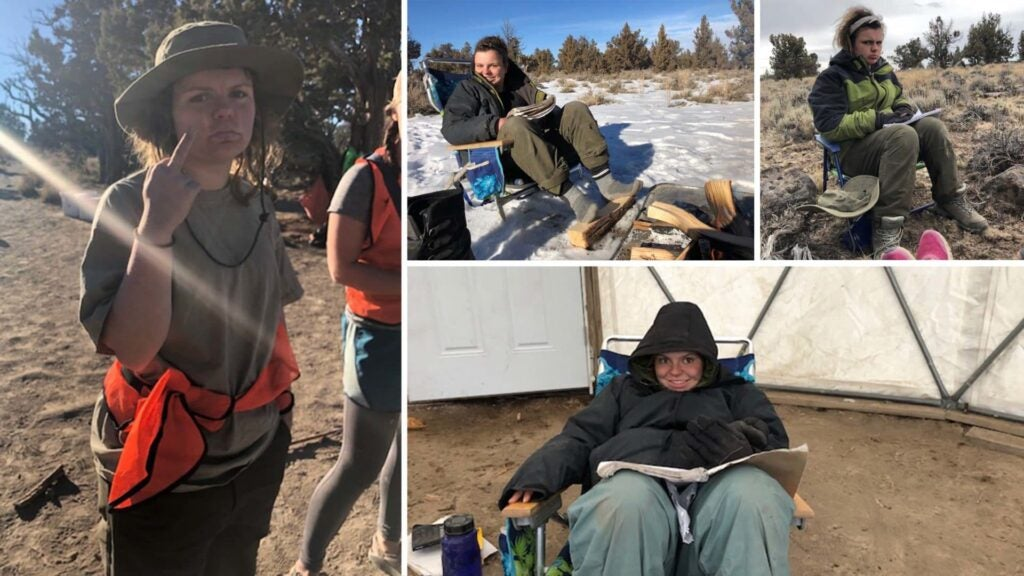 Scenes from Katherine's time in wilderness therapy