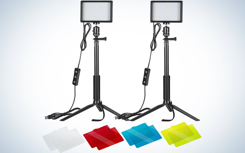 Neewer 2 Pack Dimmable 5600K USB LED Lights