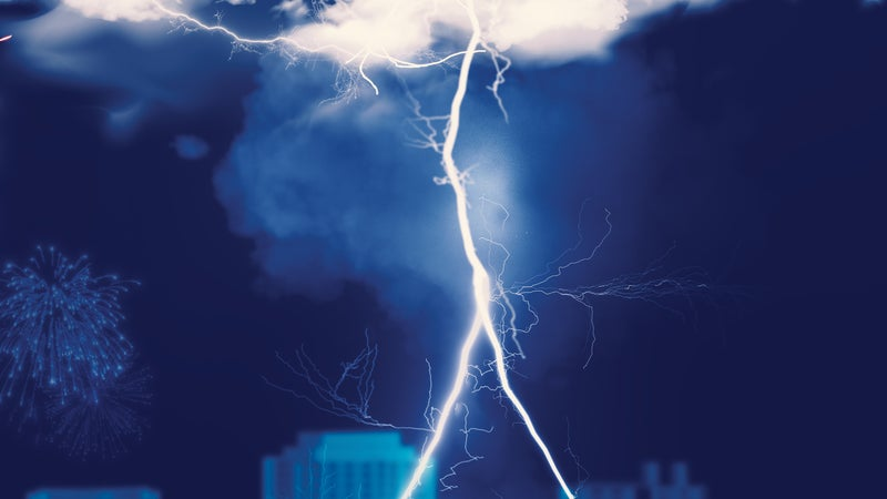 Dissecting a lightning strike, from flash to boom