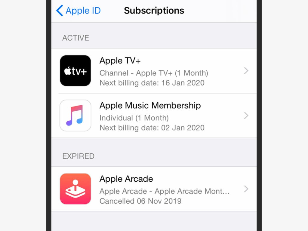 Subscription manager on IOS