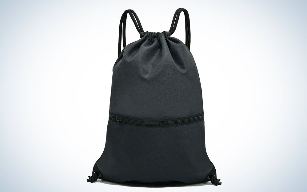 HOLYLUCK Drawstring Backpack Bag Sport Gym Sackpack