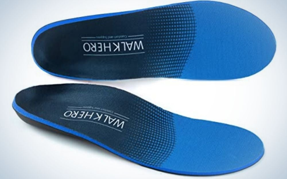 Two colored shoe soles buy strong and with their top black.