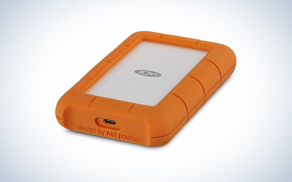 LaCie Rugged 4TB USB-C and USB 3.0 Portable Hard Drive