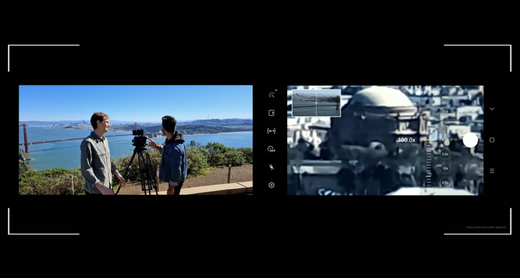Samsung 100x smartphone camera zoom.