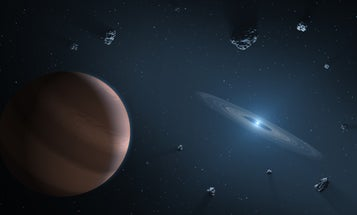 Asteroids go to pieces when their host star dies