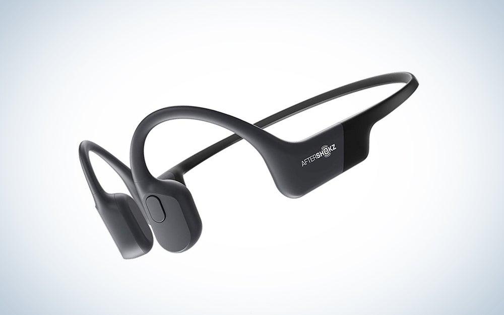 AfterShokz Aeropex Open-Ear Wireless Bone Conduction Headphones with Sport Belt