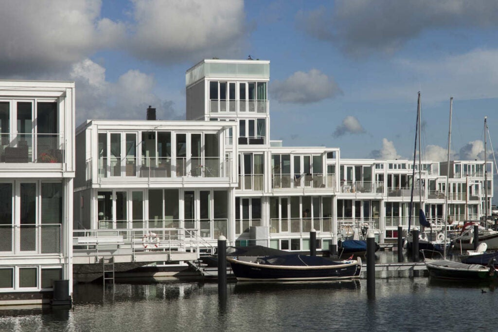 Floating Houses IJburg in Amsterdam.