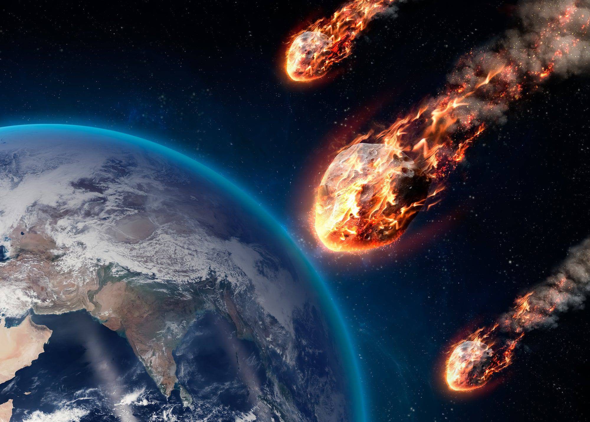 asteroids flying past earth
