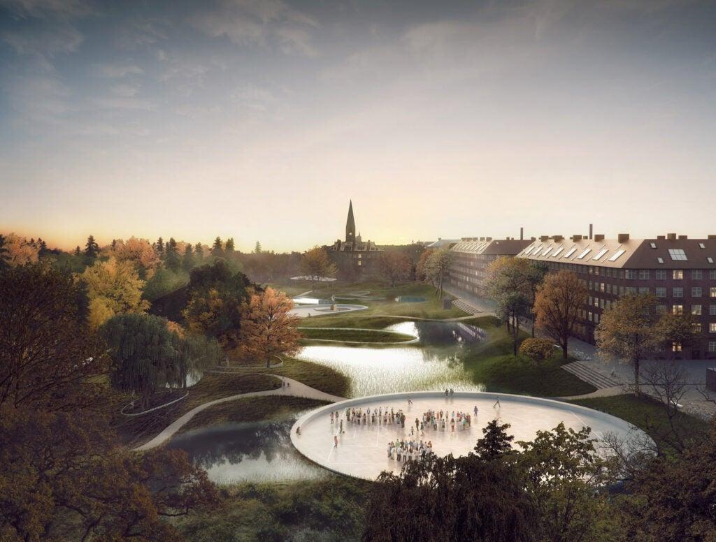 The plan for Hans Tavsens Park in Copenhagen.