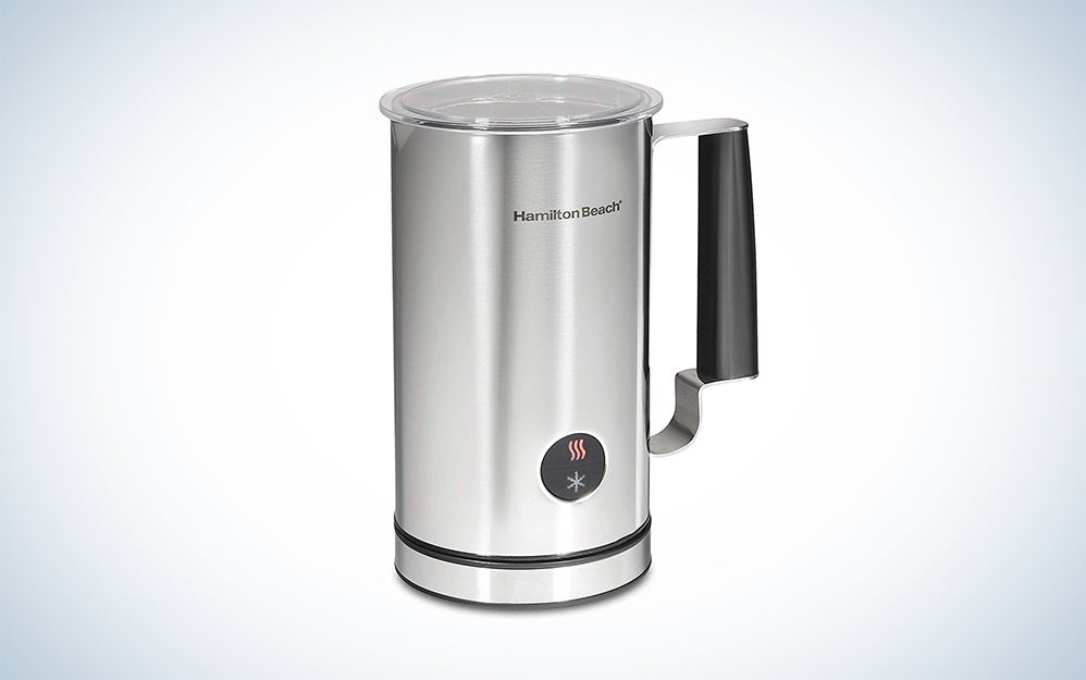 Miroco 16.9-Ounce Automatic Stainless Steel Milk Steamer with Hot & Cold Foam