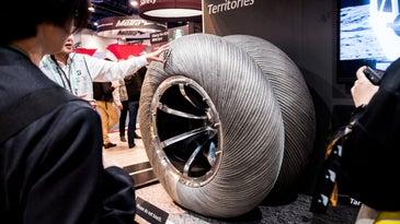 Bridgestone moon tire concept.