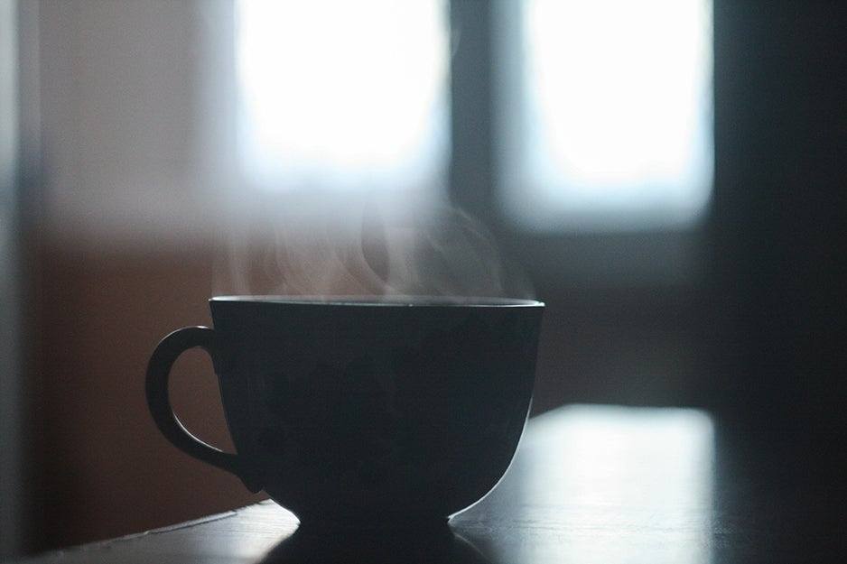 coffee cup on a table
