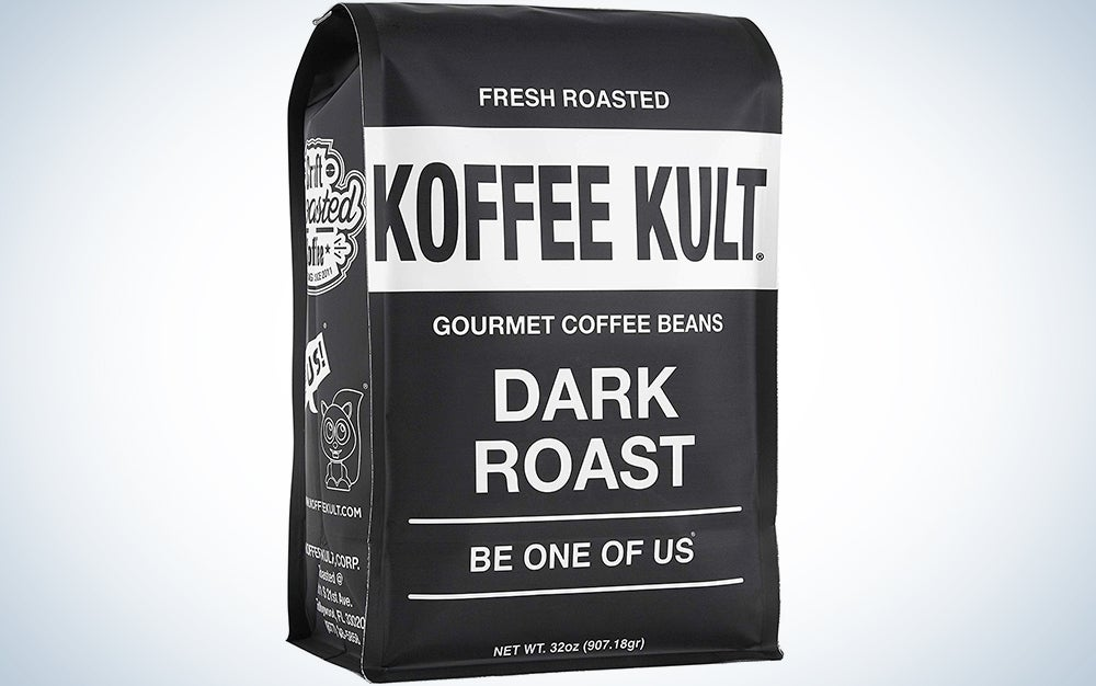 Koffee Kult Coffee Beans Dark Roasted - Highest Quality Delicious Organically Sourced Fair Trade - Whole Bean Coffee - Fresh Gourmet Aromatic Artisan Blend