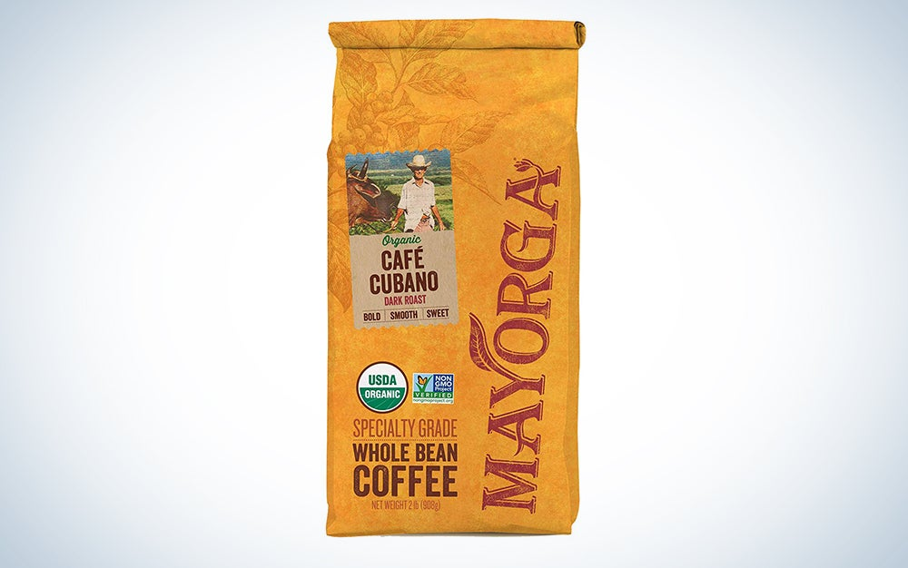 Mayorga Organics Café Cubano Roast, Dark Roast Whole Bean Coffee, Specialty-Grade, USDA Organic, Non-GMO Verified, Direct Trade, Kosher, 100% Arabica Beans