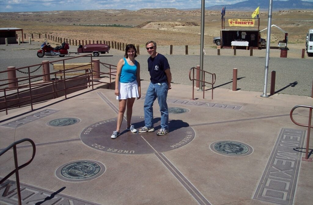 People at the Four Corners monument