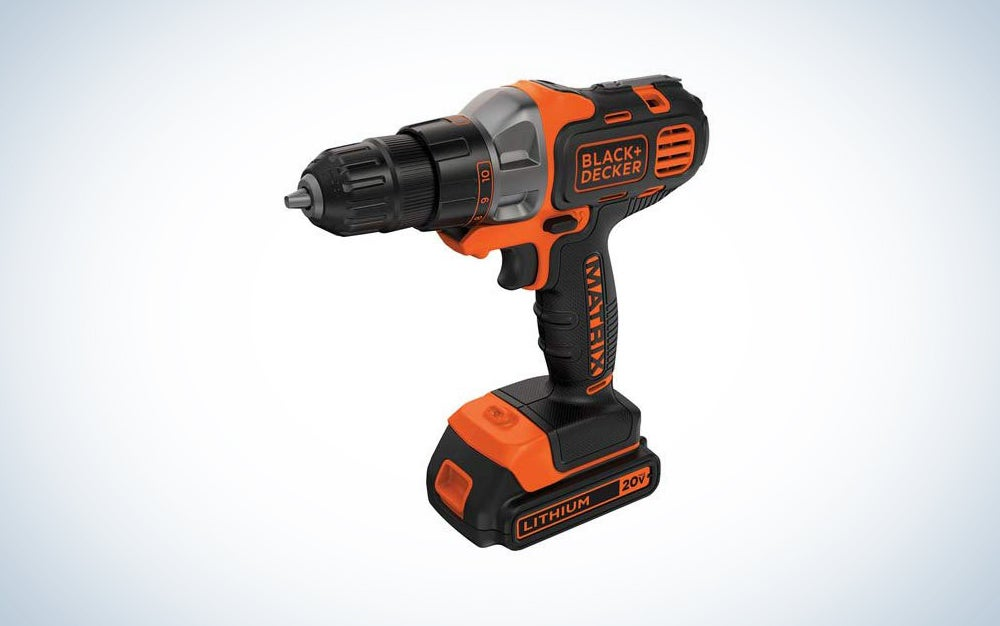 Black+Decker 20V Cordless Drill, 3/8-inch