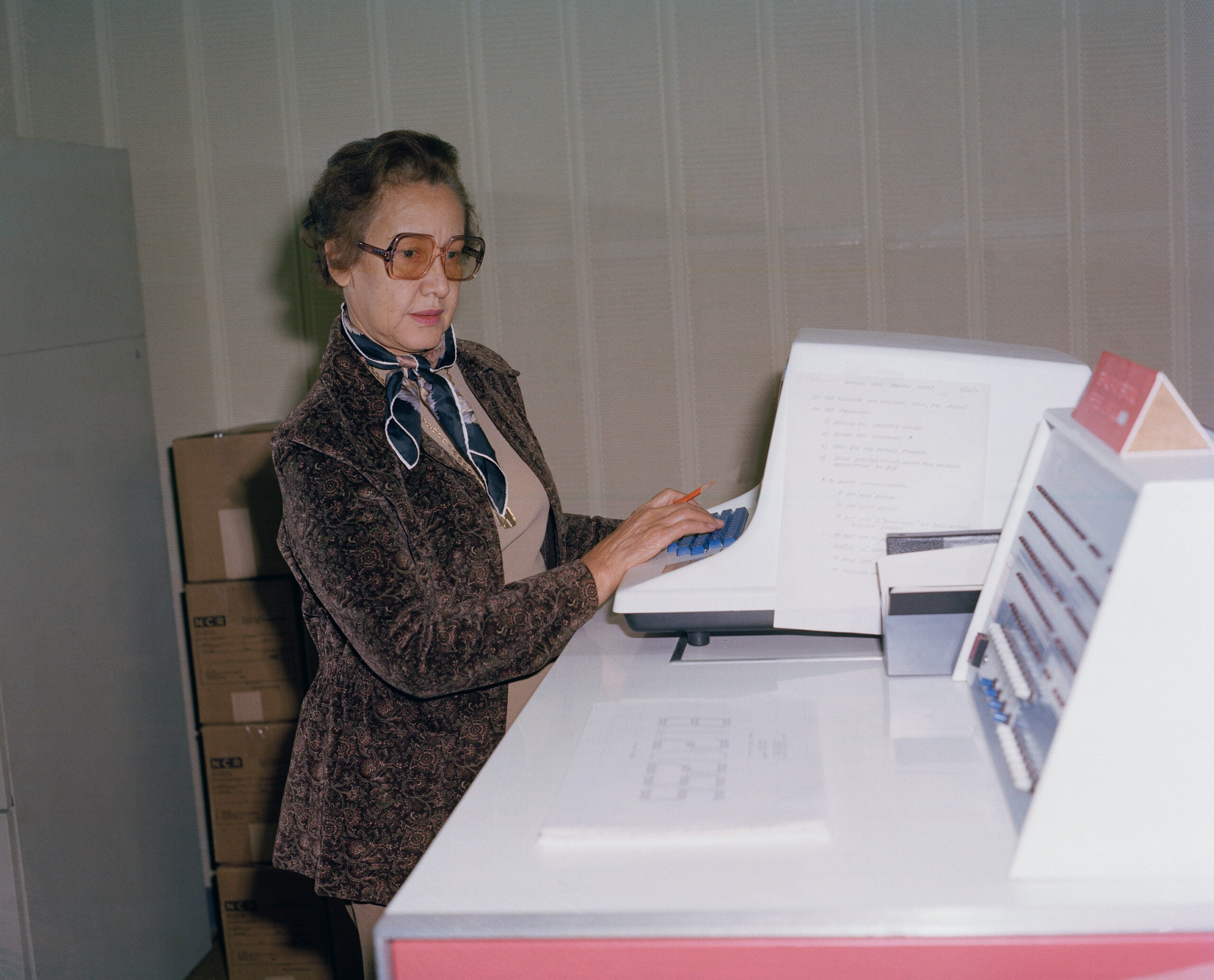 Katherine Johnson at NASA Langley Research Center in 1980