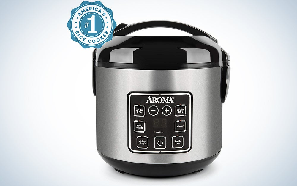 Aroma Housewares Stainless Digital Cool-Touch Rice Cooker