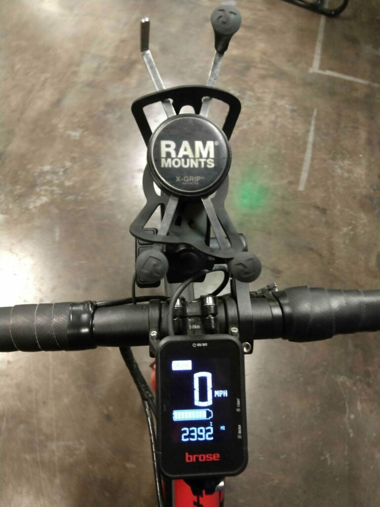 Use a handlebar mount for constant access to your phone.