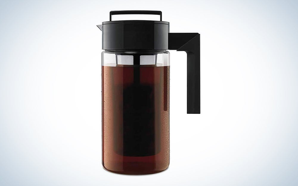 Takeya Deluxe Cold Brew Iced Coffee Maker with Airtight Lid & Silicone Handle
