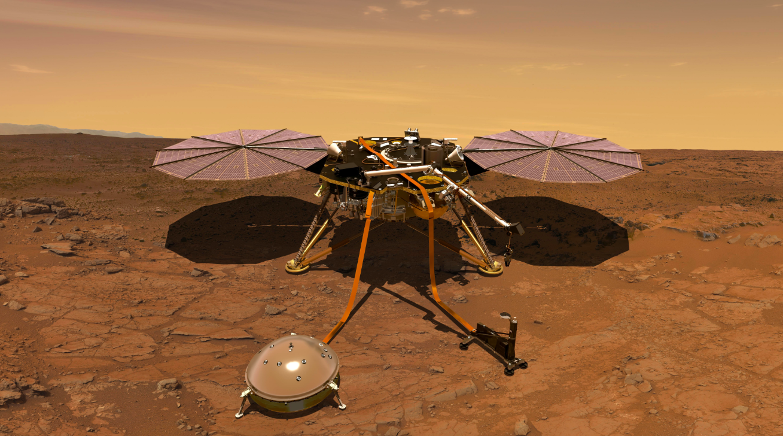 a lander on mars illustration