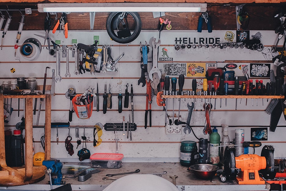 tools in a room