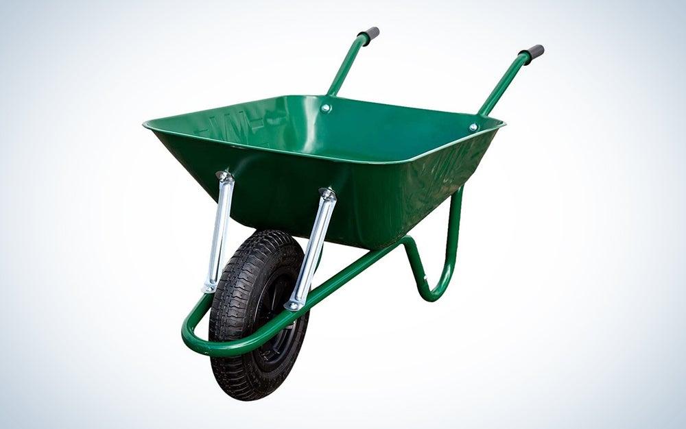 True Temper R6STSP25 Never Flat Tire Steel Wheelbarrow, 6 Cubic Foot
