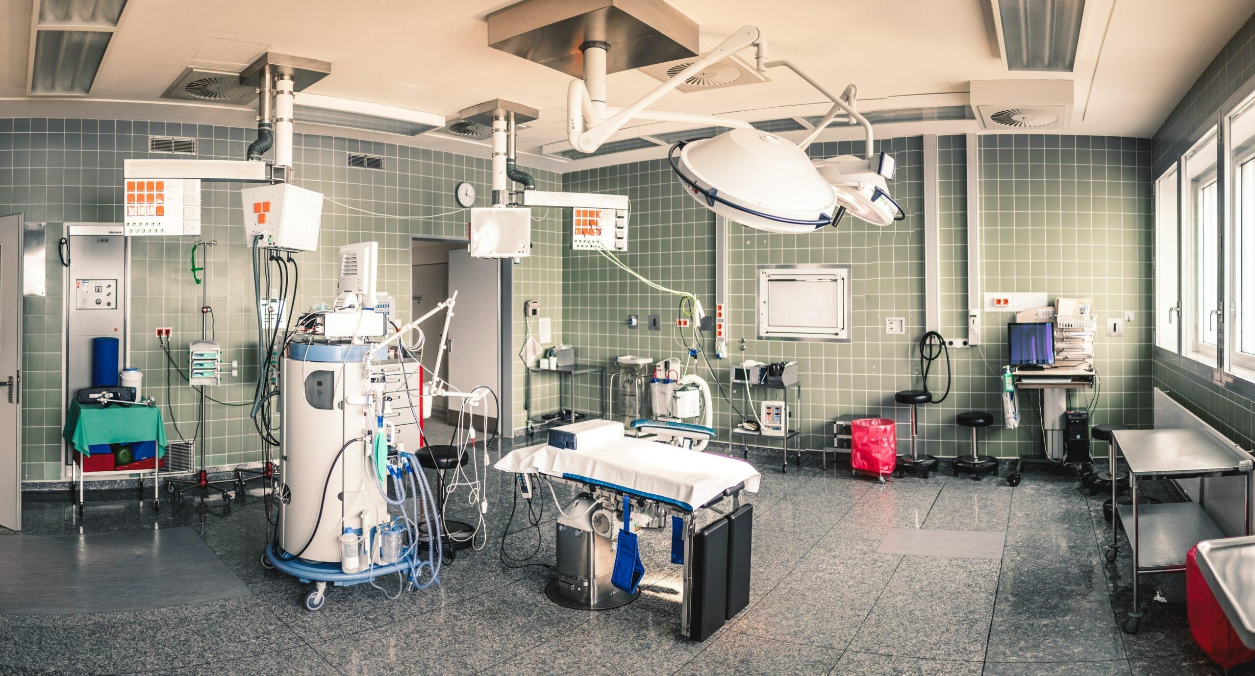 A hospital operating room