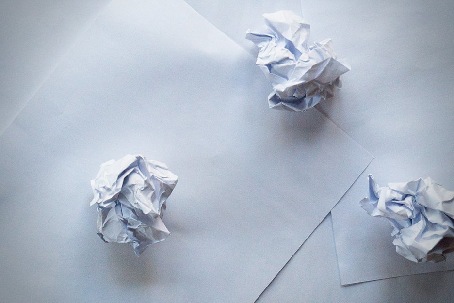 crumpled up paper