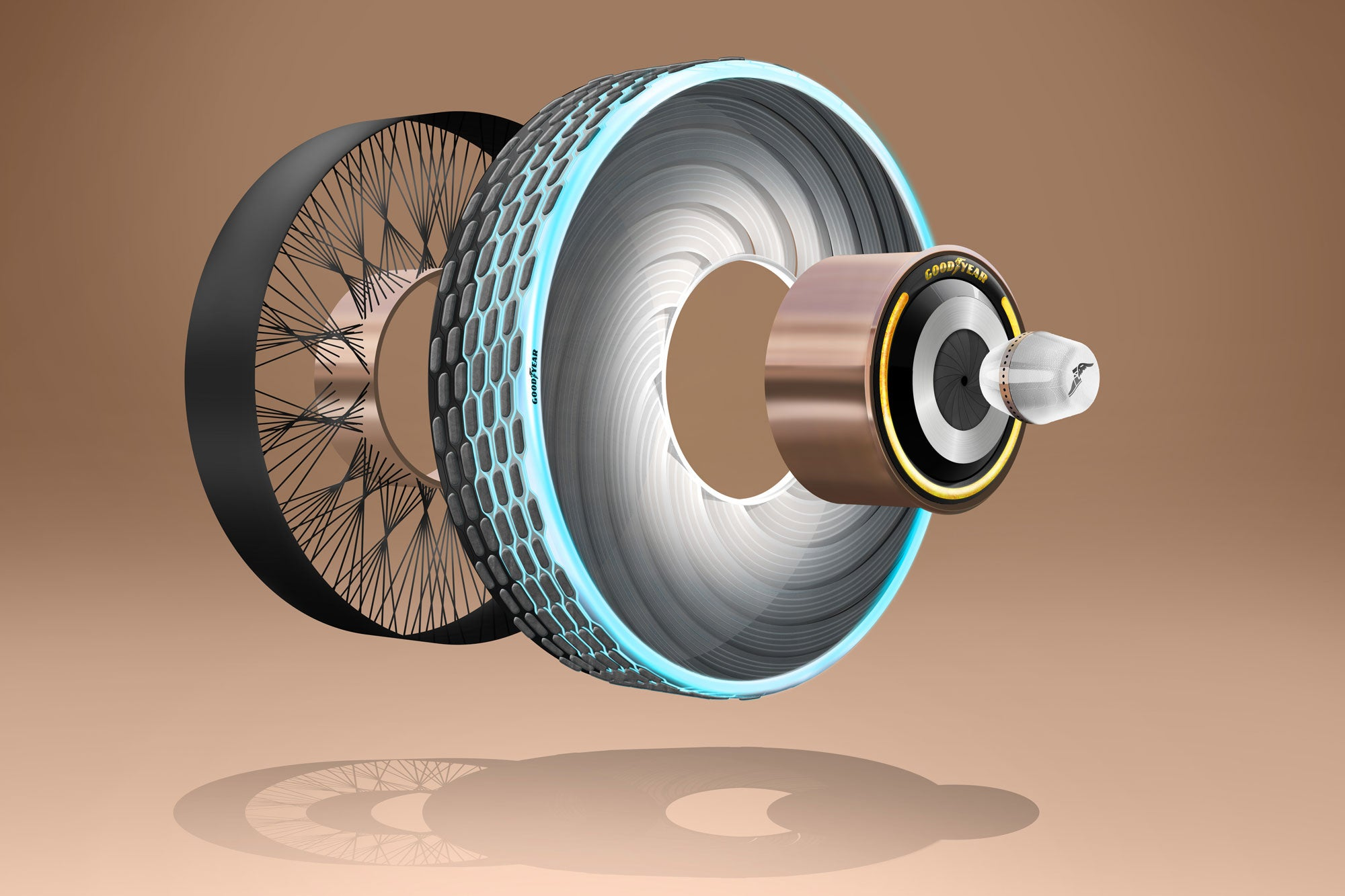Goodyear reCharge tire.