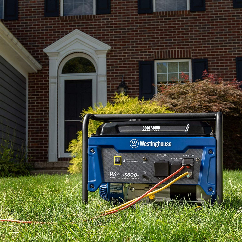 generator on lawn