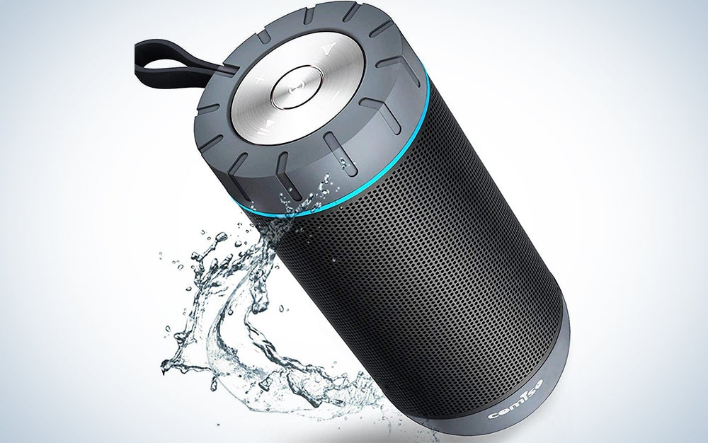 COMISO Waterproof Bluetooth Speakers Outdoor Wireless Portable Speaker with 20 Hours Playtime Superior Sound for Camping, Beach, Sports, Pool Party, Shower